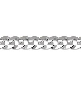 Curb Chain (7mm) Sterling Silver 20""