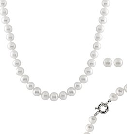 Pearl (10-11mm) Necklace and Earring Set