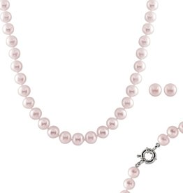 Pink Pearl (10-11mm) Necklace and Earring Set