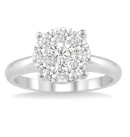 Cluster (1.00ct) White Gold Ring