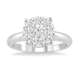 Cluster (0.50ct) White Gold Ring