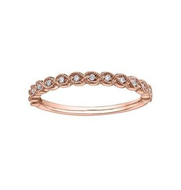 Stackable Diamond (0.07ct) Rose Gold Ring