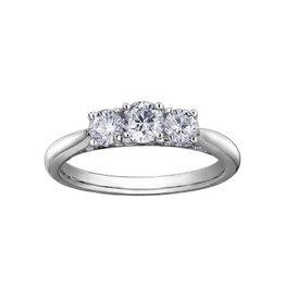 Three Stone (0.50ct) Diamond White Gold Ring