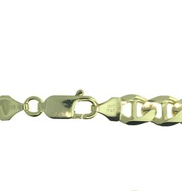 "Anchor Link (8.2mm) 9"" Yellow Gold Bracelet"