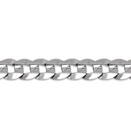 Curb Chain (8mm) - Sterling Silver 26""