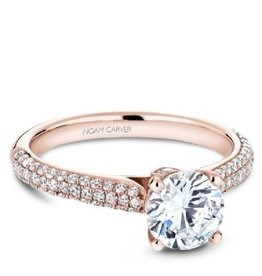 Noam Carver Diamond Mount Rose Gold