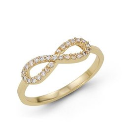 Infinity CZ Ring Yellow