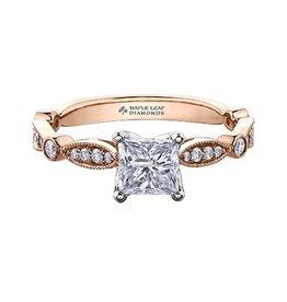 Princess Shaped (0.58ct) Canadian Diamond Ring
