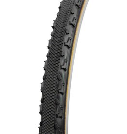 Challenge CHALLENGE Chicane Tubular Cross Tire, 700x33, Black/Brown
