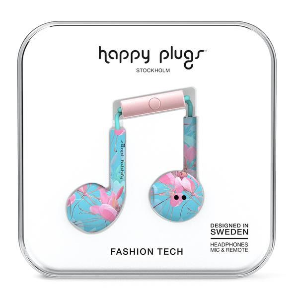 Happy Plugs Happy Plugs Earbud Plus with Remote & Mic - Botanica Exotica