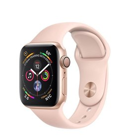 Apple Apple Watch Series 4 GPS, 40mm Gold Aluminium Case with Pink Sand Sport Band