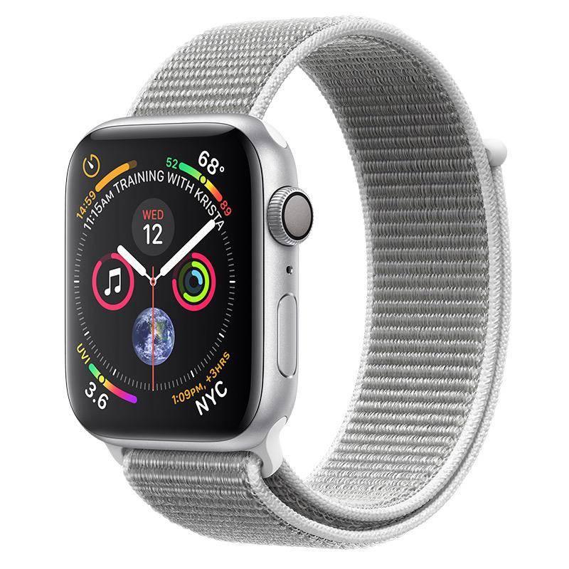 Apple AppleWatch Series4 GPS, 44mm Silver Aluminium Case with Seashell Sport Loop