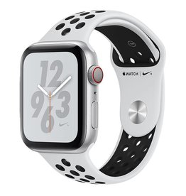 Apple AppleWatch Nike+ Series4 GPS+Cellular, 44mm Silver Aluminium Case with Pure Platinum/Black Nike Sport Band