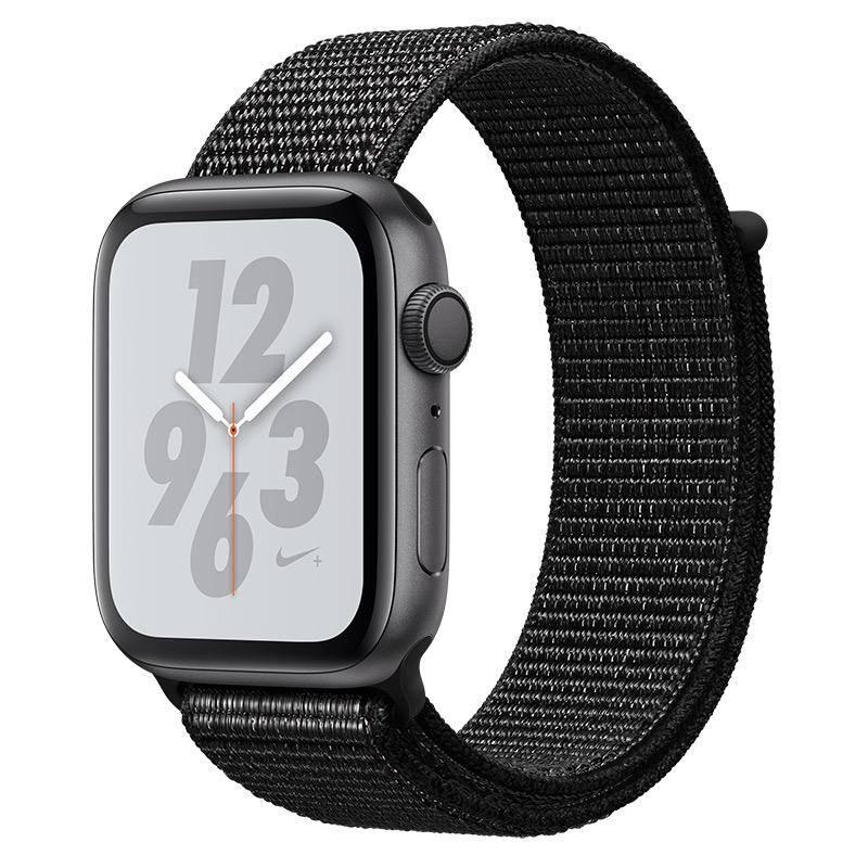 Apple AppleWatch Nike+ Series4 GPS, 44mm Space Grey Aluminium Case with Black Nike Sport Loop
