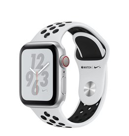 Apple Apple Watch Nike+ Series 4 GPS + Cellular, 40mm Silver Aluminium Case with Pure Platinum/Black Nike Sport Band