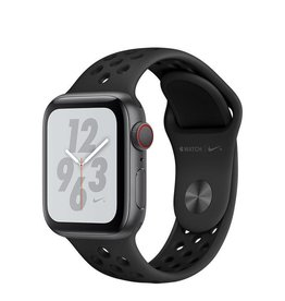 Apple Apple Watch Nike+ Series 4 GPS + Cellular, 40mm Space Grey Aluminium Case with Anthracite/Black Nike Sport Band