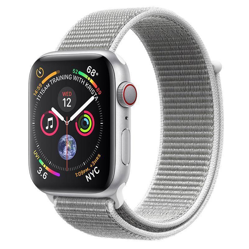 Apple AppleWatch Series4 GPS+Cellular, 44mm Silver Aluminium Case with Seashell Sport Loop