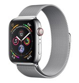 Apple AppleWatch Series4 GPS+Cellular, 44mm Stainless Steel Case with Milanese Loop