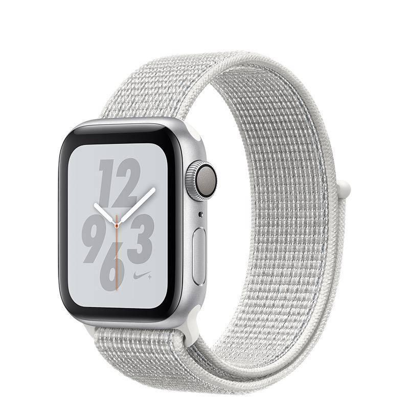 Apple AppleWatch Nike+ Series4 GPS, 40mm Silver Aluminium Case with Summit White Nike Sport Loop