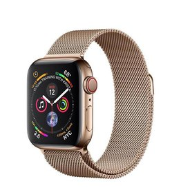 Apple AppleWatch Series4 GPS+Cellular, 40mm Gold Stainless Steel Case with Gold Milanese Loop