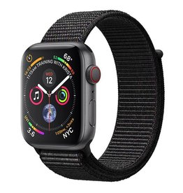 Apple AppleWatch Series4 GPS+Cellular, 44mm Space Grey Aluminium Case with Black Sport Loop