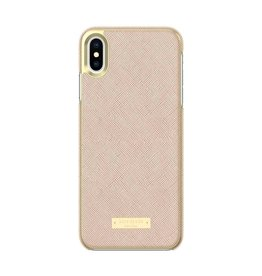 kate spade new york kate spade Wrap Case for iPhone XS Max - Saffiano Rose Gold/Gold Logo Plate