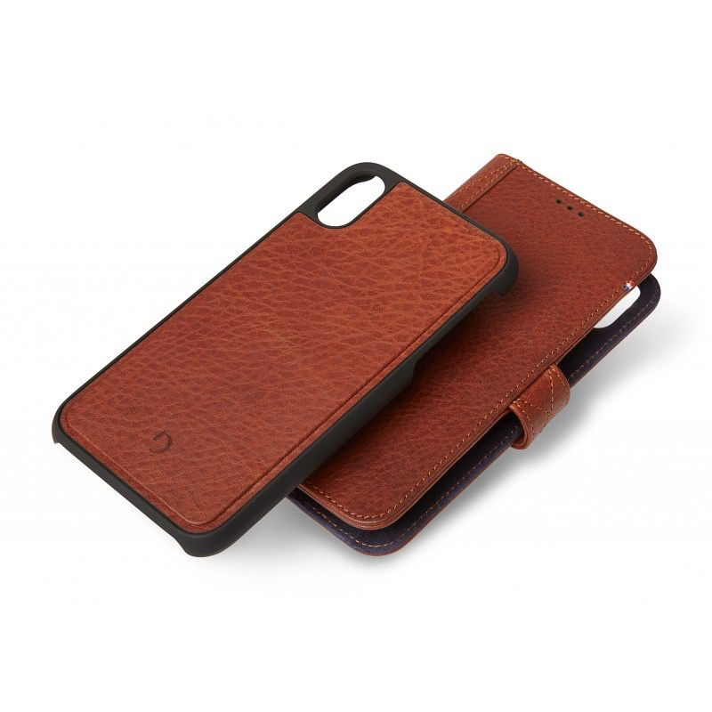 Decoded 2-in-1 Wallet Caser for iPhone XS Max -Cinnamon Brown