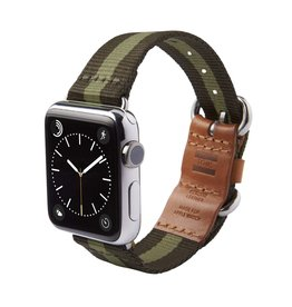 TOMS TOMS Apple Watch 38mm Utility Band - Green Stripe