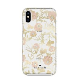 kate spade new york kate spade Hardshell Case for iPhone XS/X - Blossom Pink/Gold with Gems