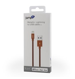 Jump Jump+ USB to Lightning Cable 1m Braided - Red