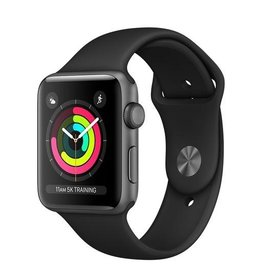 Apple Apple Watch Series 3 GPS, 42mm Space Grey Aluminium Case with Black Sport Band (Open Box)