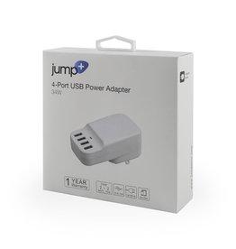 Jump Jump+ 34W 4-Port USB Power Adapter