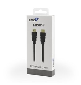 Jump Jump+ HDMI 1m Cable - Black (4K Compatible)