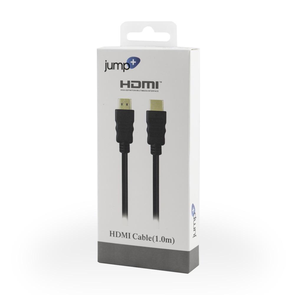 Jump Jump+ HDMI 1m Cable - Black (4K Compatible)