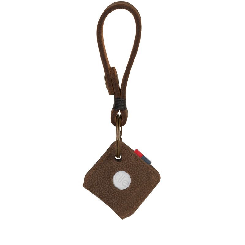 Herschel Supply Herschel Supply Leather Keychain + Tile - Brown Pebble