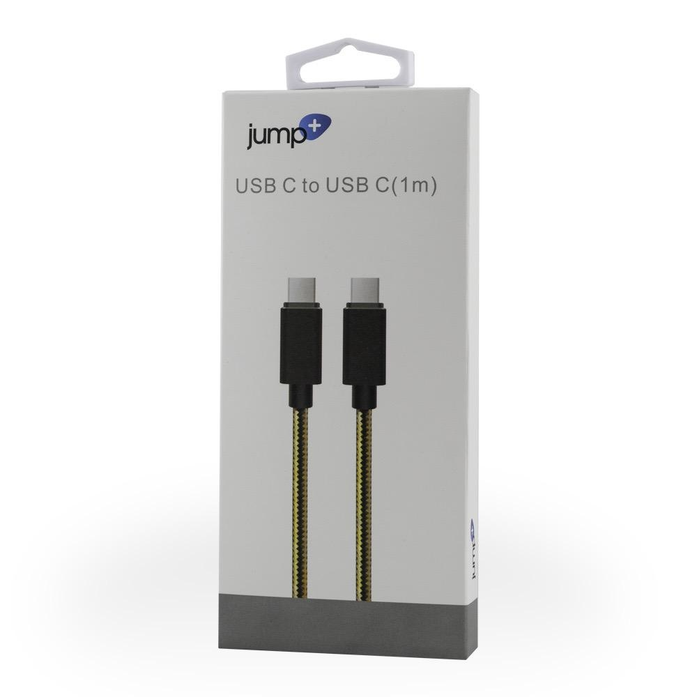 Jump Jump+ USB-C Charge Cable (1M) Braided Cable - Black / Gold