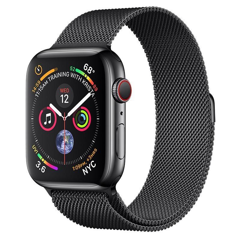 Apple AppleWatch Series4 GPS+Cellular, 44mm Space Black Stainless Steel Case with Space Black Milanese Loop