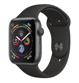 Apple Apple Watch Series 4 GPS, 44mm Space Grey Aluminium Case with Black Sport Band