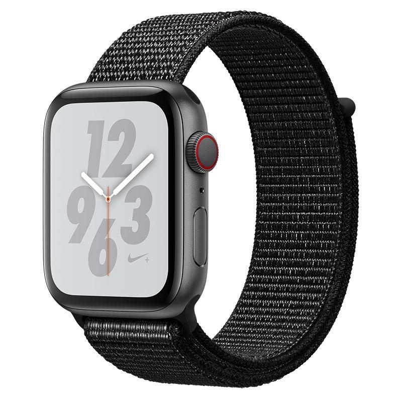 Apple Apple Watch Nike+ Series 4 GPS + Cellular, 44mm Space Grey Aluminium Case with Black Nike Sport Loop