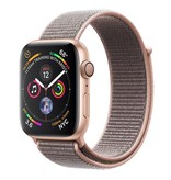 Apple Apple Watch Series 4 GPS, 44mm Gold Aluminium Case with Pink Sand Sport Loop