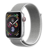 Apple Apple Watch Series 4 GPS + Cellular, 44mm Silver Aluminium Case with Seashell Sport Loop
