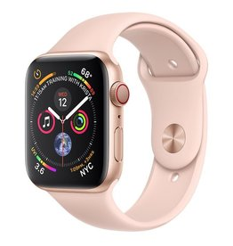 Apple Apple Watch Series 4 GPS + Cellular, 44mm Gold Aluminium Case with Pink Sand Sport Band