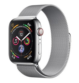 Apple Apple Watch Series 4 GPS + Cellular, 44mm Stainless Steel Case with Milanese Loop