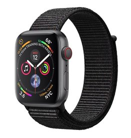 Apple Apple Watch Series 4 GPS + Cellular, 44mm Space Grey Aluminium Case with Black Sport Loop