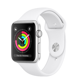 Apple Apple Watch Series 3 GPS, 42mm Silver Aluminium Case with White Sport Band
