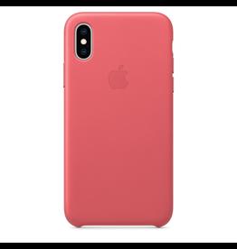 Apple Apple iPhone XS Leather Case - Peony Pink