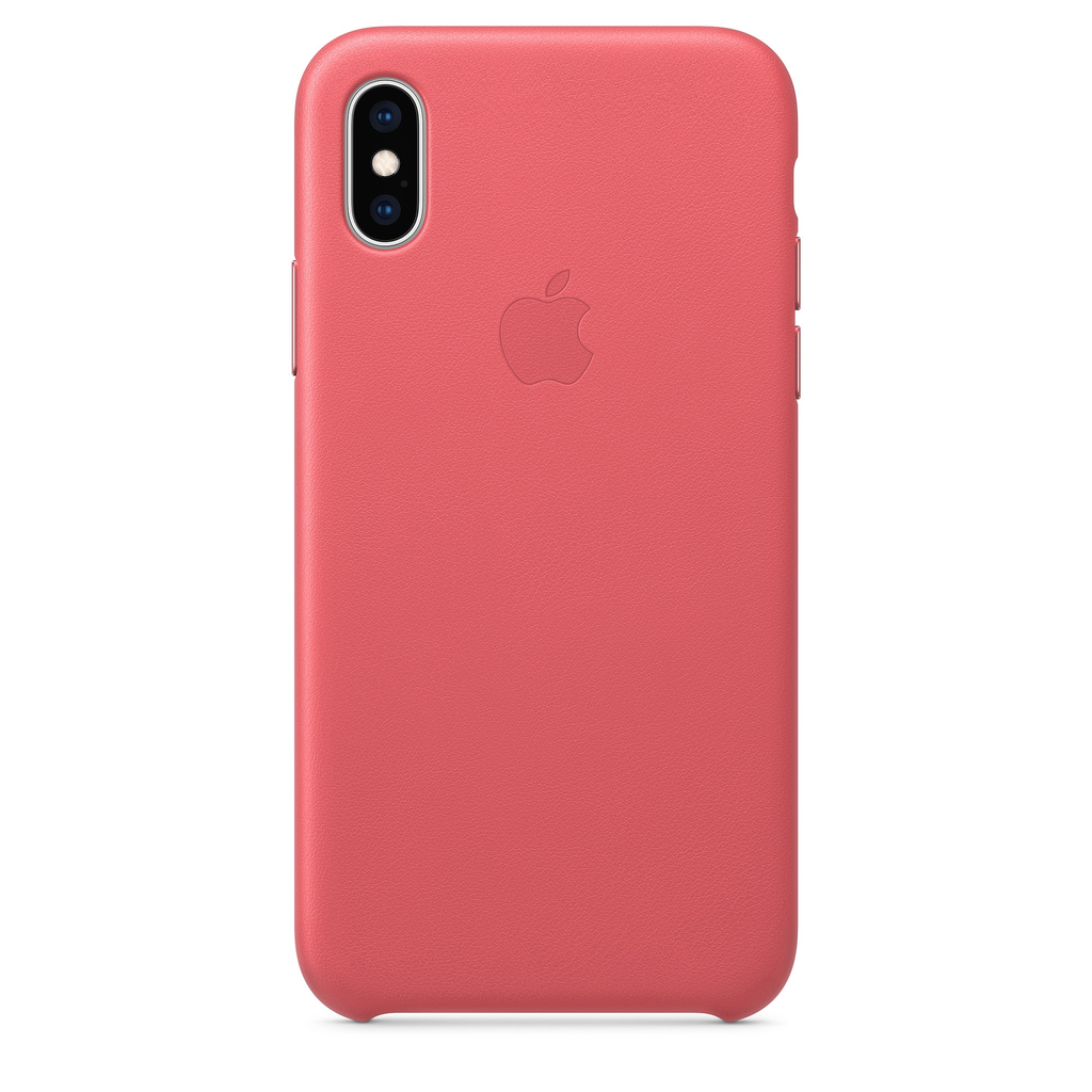 Apple Apple iPhone XS Leather Case - Peony Pink