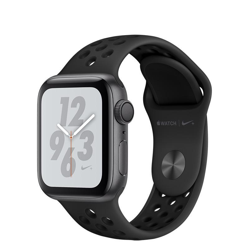 Apple AppleWatch Nike+ Series4 GPS, 40mm Space Grey Aluminium Case with Anthracite/Black Nike Sport Band