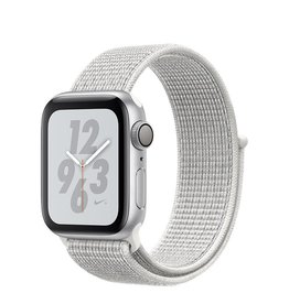 Apple Apple Watch Nike+ Series 4 GPS, 40mm Silver Aluminium Case with Summit White Nike Sport Loop