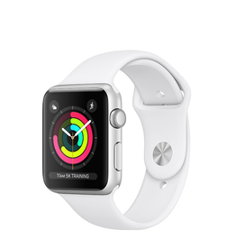 Apple Apple Watch Series 3 GPS, 38mm Silver Aluminium Case with White Sport Band